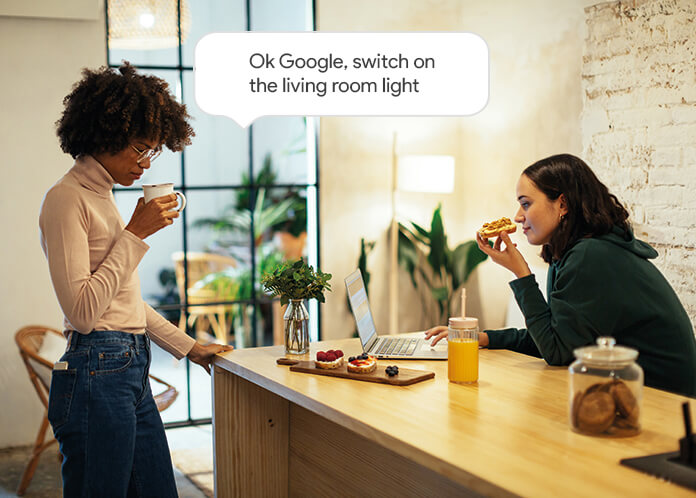 Use voice control to manage your  lighting Delta Dore equipments with Google Assistant.
