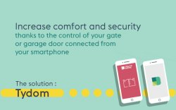 Delta Dore lets you manage your gate or garage door with your telephone.