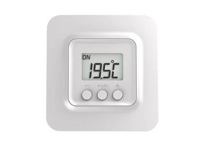 Connected thermostat for electric heating